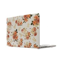"""Flower Design Rubberized Hard Case Cover for Macbook Pro 15.4"""" with Retina Display Model: A1398"""
