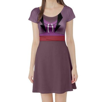 Dr. Facilier Shadow Man Princess and the Frog Inspired Short Sleeve Skater Dress
