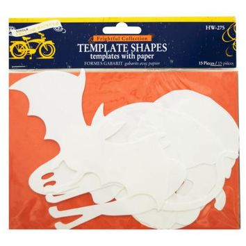 Frightful Collection Halloween Template Shapes with Paper ( Case of 24 )