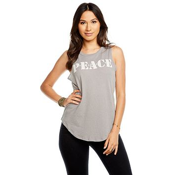 Chaser Peace Muscle Tank Flax