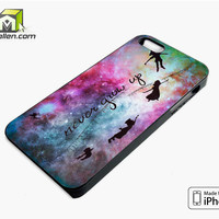 Disney New Peter Pan Quote Galaxy iPhone 5s Case Cover by Avallen