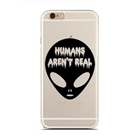 Clear Snap-On case for iPhone 5/5S - You're Outta This World - Alien - UFO - Horror Dripping Text - Hipster (C) Andre Gift Shop