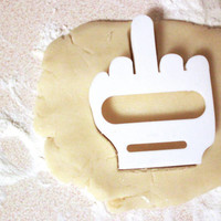 Middle Finger Cookie Cutter 3d Baking Accessories Kitchen Home Punk Teen Funny Gag Gift Fondant Cheese Homemade Marshmallow Toast