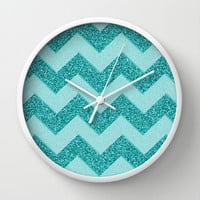 Chevron Frost Wall Clock by Alice Gosling