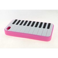Apple iPhone 4 / 4S Skin Case Cover for Pink Piano Style