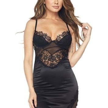 Seduction Satin Bustier Dress
