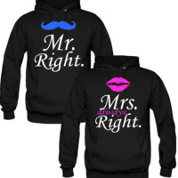 Mr Right and Mrs Always Right Love Couple Hoodie