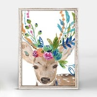 Boho Deer Mini Framed Canvas