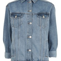 MOTO Oversized Denim Jacket | Topshop