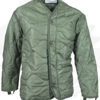 Field Jacket Liner, M-65, Olive Drab--Genuine Military Issue, X-Large - NSN:8415-00-782-2890