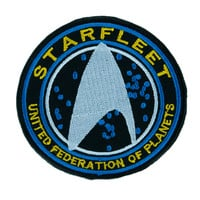 Starfleet Enterprise Star Trek Patch Iron on Applique United Federation of Planets Clothing