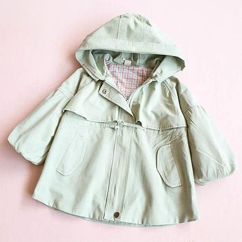 Fashion Style New Warm Girl Trench Autumn Girl Coat Children's Thickening Clothes Kids Coat Beautiful Hooded Jacket