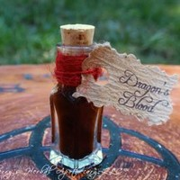 DRAGONS BLOOD Aged Potion Oil - Dispel Negativity, Power, Protection, Exorcism of Supernatural Entities, Love Magick