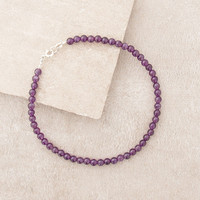 High-Energy Amethyst Anklet