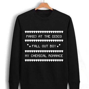panic at the disco fall out boy mcr Unisex Sweatshirts