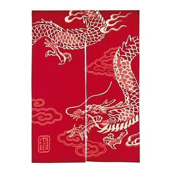 Japanese Cotton Noren Curtain Blinds Dragon