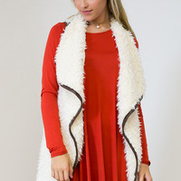 Fur-Abulous Open Cardigan Pocket Vest