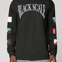 Black Scale Pandemic Long Sleeve T-Shirt - Mens Tee - Black