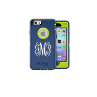 iPhone Otterbox Case Vinyl Monogram Case Phone Sticker Monogram Decal 2 inch Vinyl Personalized Sticker Free Shipping in USA
