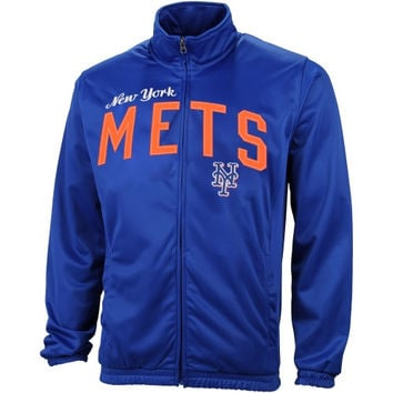 New York Mets Walk Off Poly Tricot Track Jacket – Royal Blue