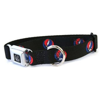 CREYCY8 Grateful Dead - Steal Your Face Repeat Dog Collar