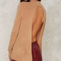 Nasty Gal Split Ways Turtleneck Sweater