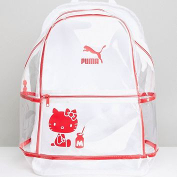 Puma X Hello Kitty Translucent Backpack at asos.com