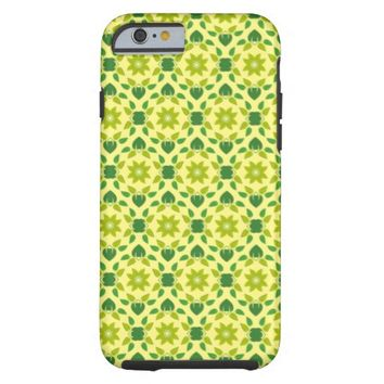 delicate floral leaves tough iPhone 6 case