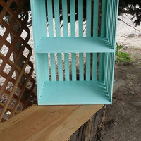 "Crate inspired ""choose your color"" night stand/bookshelf/end table. Real wood. Home decor. Crate."