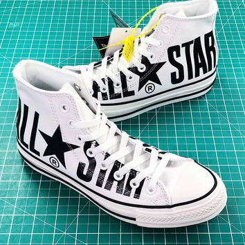 Converse All Star 100th White Balck High Top Shoes - Best Online Sale