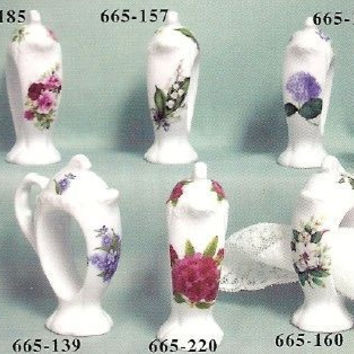 Teapot Porcelain Napkin Rings Set of 4 available in over 25 patterns