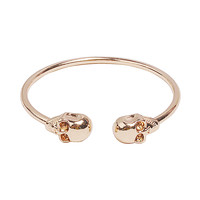 Fashion Golden Bracelet Skull Bracelet Simple Bangle Jewelry Chunky Noble Bracelet