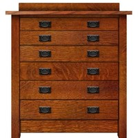 Arts & Crafts Mission 6 Drawer Chest Bureau Optional Stealth Hidden Drawer