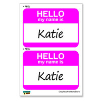 Katie Hello My Name Is - Sheet of 2 Stickers