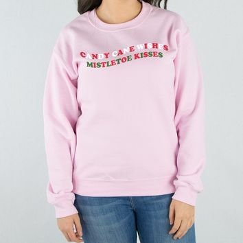 Candy Cane Wishes Sweatshirt