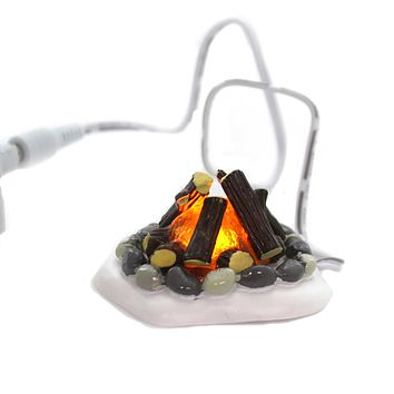 Department 56 Accessory LIT FIRE PIT Polyresin Village Accessories 4020247