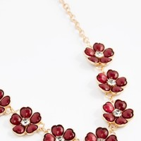 Burgundy Stone Daisy Necklace | Statement | rue21