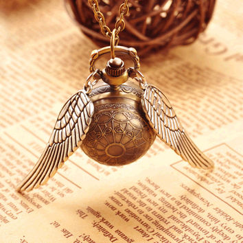Golden Snitch Necklace and/or Pocket Watch
