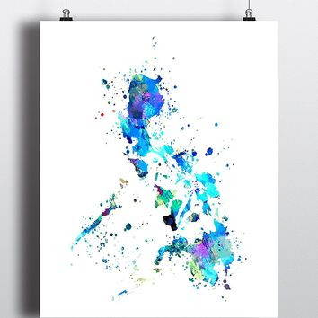 Philippines Map Art Print - Unframed