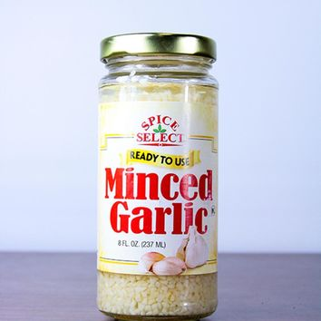 Club Pack of 12 Spice Select Minced Garlic 8 oz. #30988
