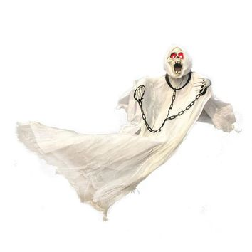 new 90cm Tall White Halloween Decoration Hanging Ghost with Chain