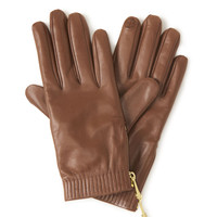 West 57th Black Leather Touchscreen Gloves | Henri Bendel