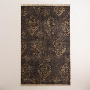 Radley Floral Hand-Knotted Wool Area Rug - World Market
