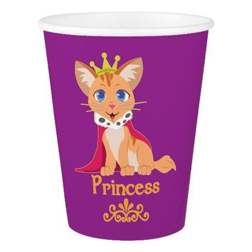 Princess Kitten Paper Cup