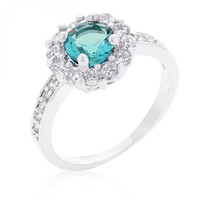 Bella Birthstone Engagement Ring In Blue (size: 05)