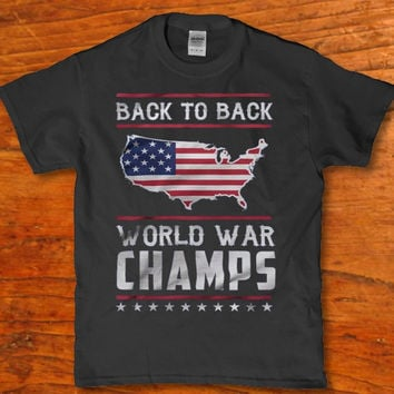 Back to back United states world war champs adult t-shirt Men's