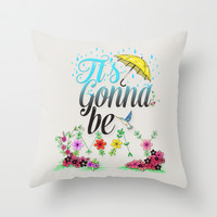 It's Gonna Be May. Throw Pillow by Sara Eshak