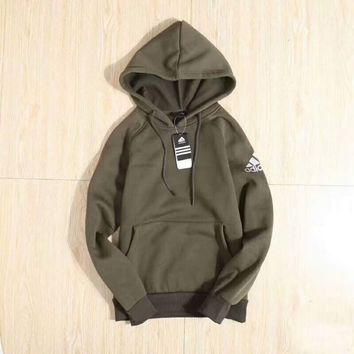 ADIDAS Fashion Casual Hooded  Contracted Long Sleeve Pullover Sweater G-ZDL-STPFYF
