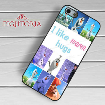 Disney Frozen Olaf Character Collage -tri for iPhone 6S case, iPhone 5s case, iPhone 6 case, iPhone 4S, Samsung S6 Edge