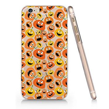 Cute Pumpkin Halloween Pattern Slim Transparent Plastic Phone Case for iphone 6 _ SUPERTRAMPshop (iphone 6)